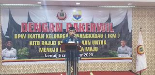Gubernur Jambi Membuka Secara Resmi Rakerwil Ikatan Keluarga Minangkabau.