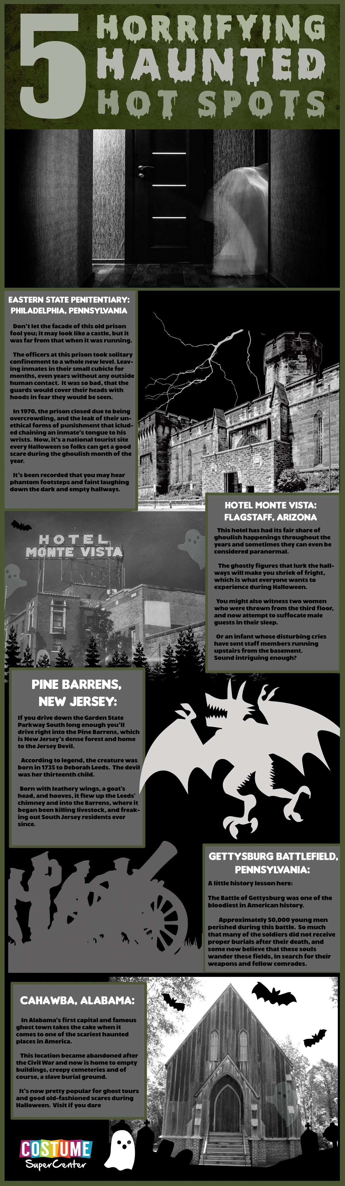 5 Horrifying Haunted hot Spots #infographic