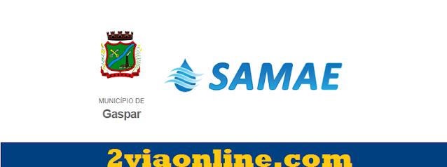 2Via SAMAE Gaspar-SC: confira como consultar fatura e gerar boleto