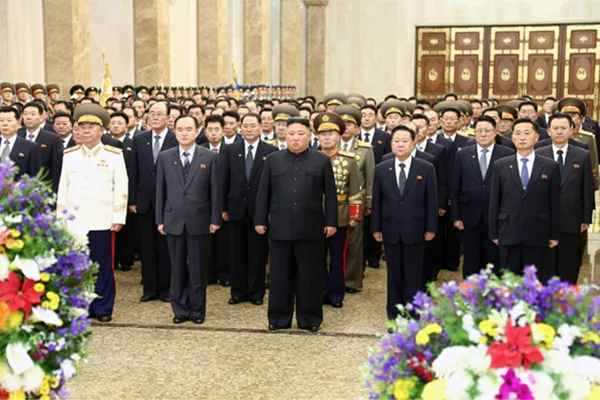 Kim Jong Un Visits Kumsusan Palace of Sun on Shining Star Day