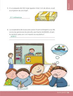 Respuestas Apoyo Primaria Desafíos Matemáticos 5to. Grado Bloque II Lección 24 En partes iguales