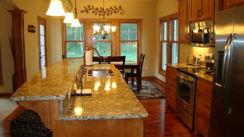siberian sunset granite kitchen countertop ideas - Granite Kitchen Countertops Ideas
