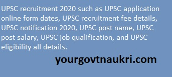 UPSC Notification For 121 Posts.