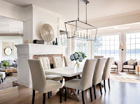 Interesting pendant light for attractive dining room