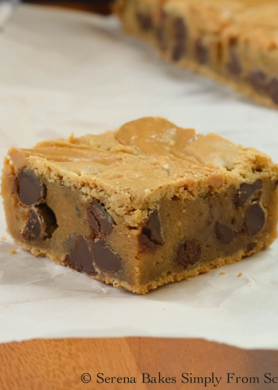 Brown Butter Blondies With Peanut Butter Swirl are a favorite delicious dessert recipe perfect for Super Bowl, Easter, or 4th of July! Great for parties from Serena Bakes Simply From Scratch.