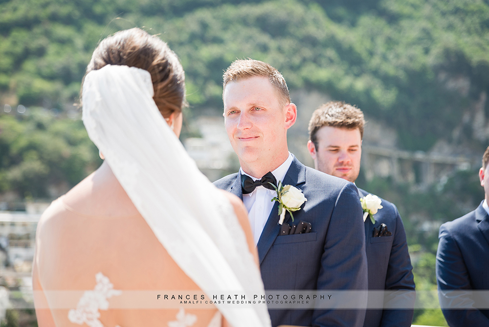 Positano civil wedding ceremony