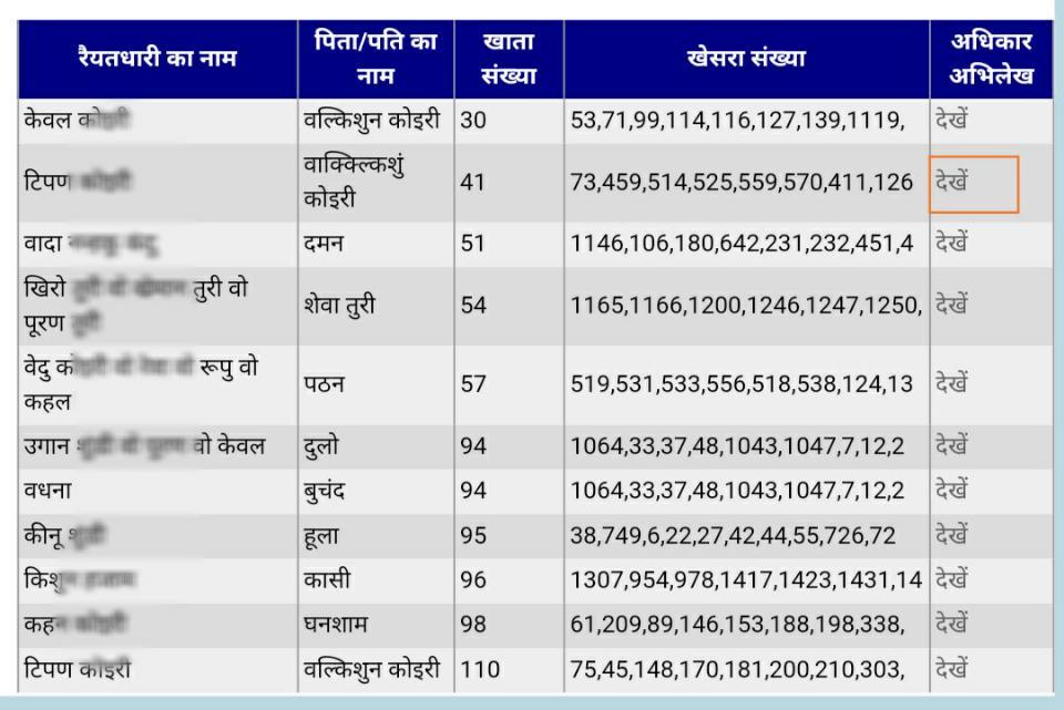jharbhoomi land record jharkhand
