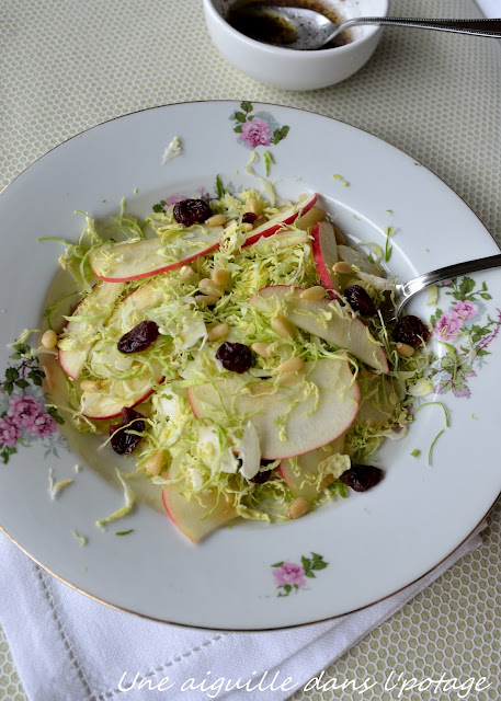 Brussels sprouts cranberries apple salad
