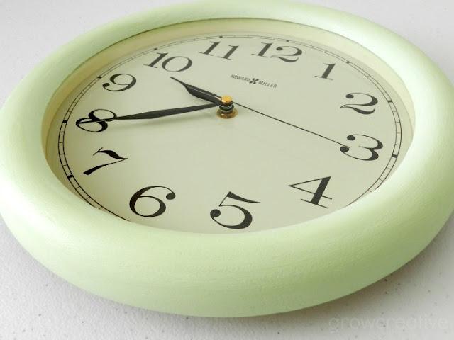 Clock makeover: growcreative