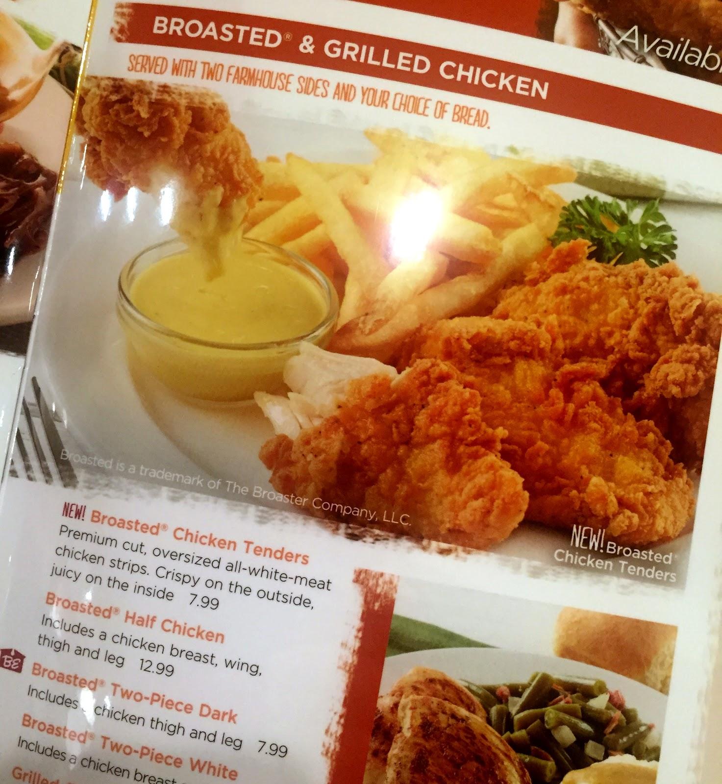 Restaurant Review Bob Evans Broasted Chicken Tenders