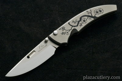 Chris Reeve Large Sebenza 21 with Dog Paw with Gold Color