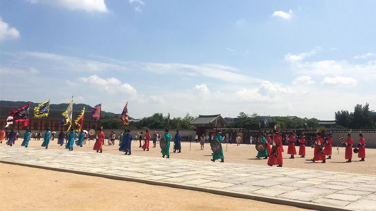 Seoul, Korea - Summer Study Abroad 2014 - Seoul City Touring - Gwanghwamun 광화문 光化門 Changing guards ceremony