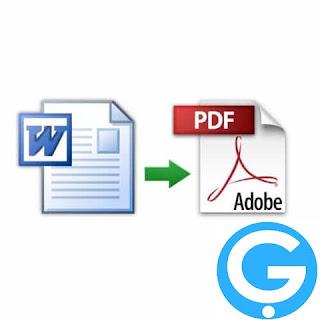 طريقة تحويل word إلى pdf