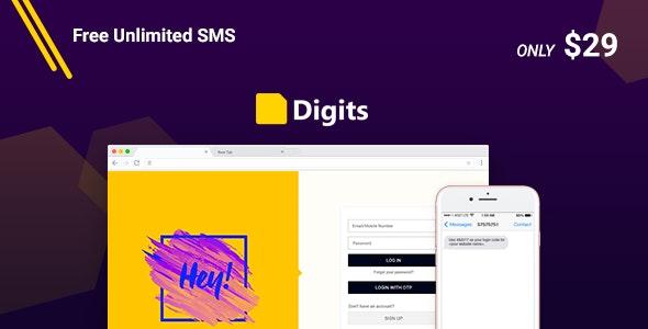 Digits v7.6.0.1 NULLED –WordPress Mobile Number Signup and Login