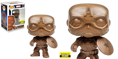 Entertainment Earth Exclusive Captain America Wood Deco Variant Pop! Marvel Vinyl Figure by Funko