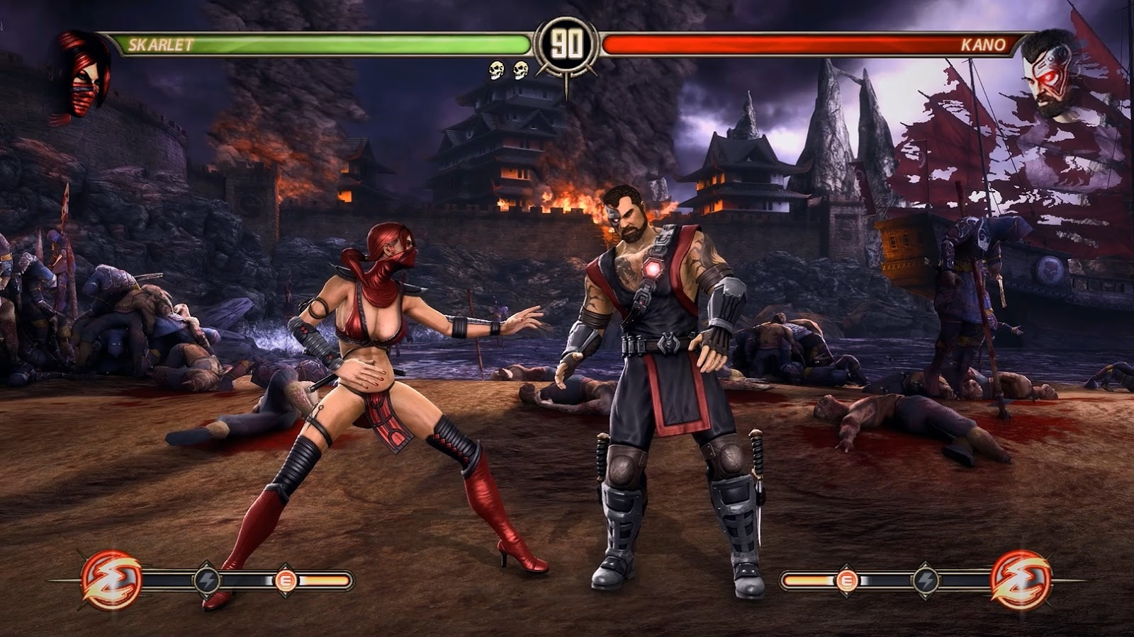Mortal Kombat 9 Komplete Edition Lightning Graphics Mod - All