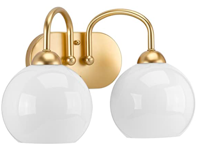 gold globe light fixture