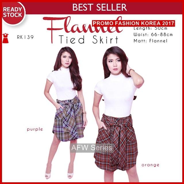 BAMFGW117 Flannel Skirt Rok Wanita PROMO BMG