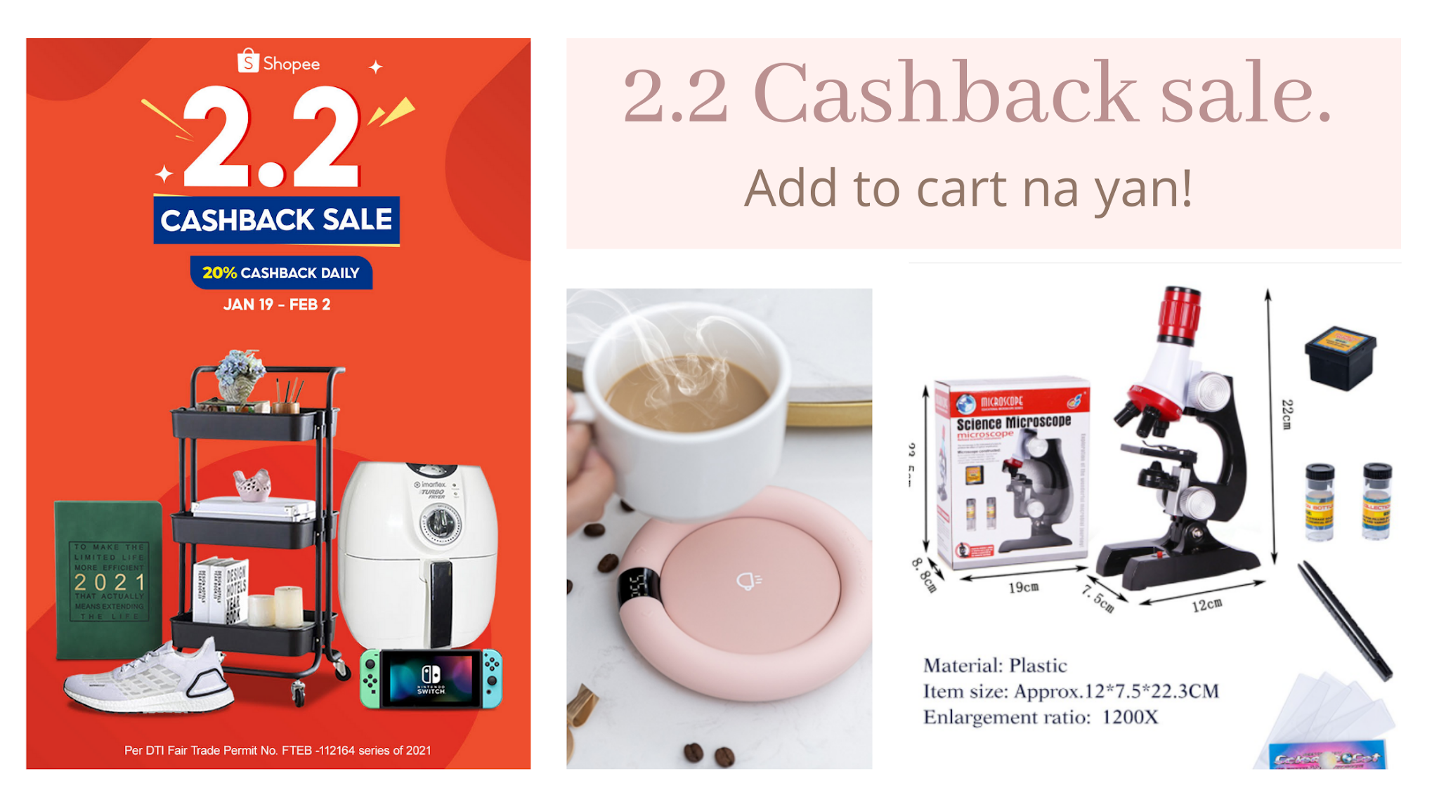 2.2 Shopee Cashback sale is here! Check out my top picks items from homeschooling, decors, fashion, electronics and more. Life with ZG