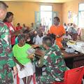 Satgas YR Khusus 136 Gelar Pengobatan Gratis di Desa Mesiang Kepulauan Aru