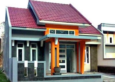 warna cat rumah sederhana yang depan