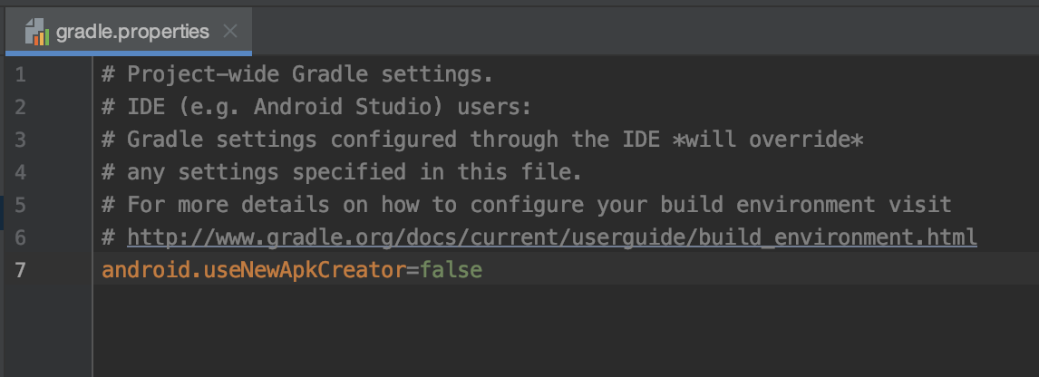 Edit your gradle.properties file to disable the new packaging tool