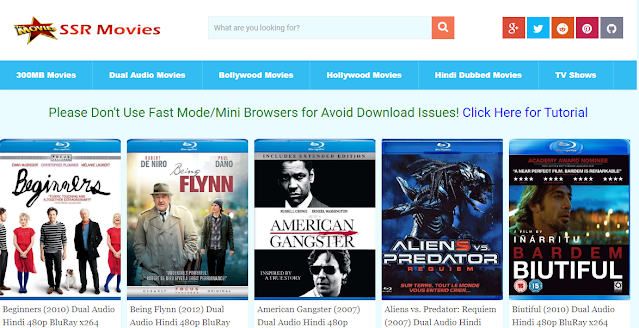 SSR Movies - Download Illegal 300MB Dual Audio Movies, Bollywood, Hollywood Movies Download, Latest SSR Movies Website News