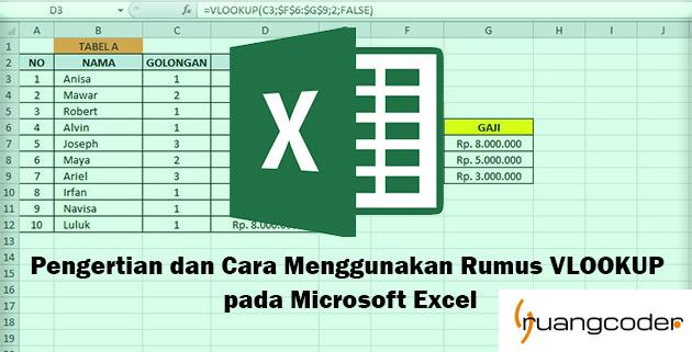 Pengertian dan Cara Menggunakan Rumus VLOOKUP pada Microsoft Excel
