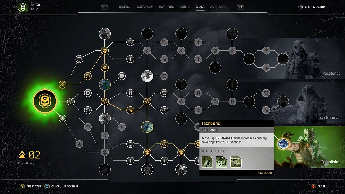 How to unlock improvements in the skill tree
