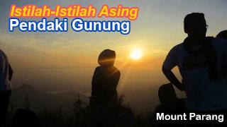 Istilah pendaki gunung