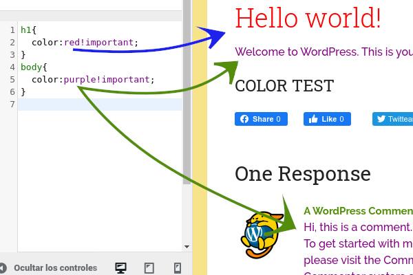 Cambiar color de letra en toda la plantilla de WordPress sin usar Plugins