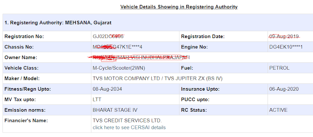Know Vehicle Details By Vehicle Number Online