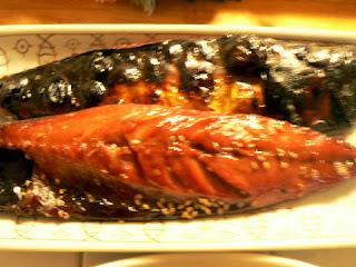 酒の肴 焼き魚 サバみりん干し