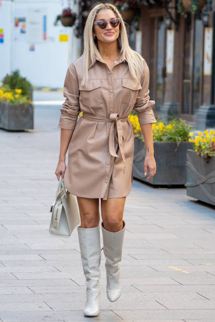 Ashley Roberts – Seen leaving Global Studios Heart FM in London