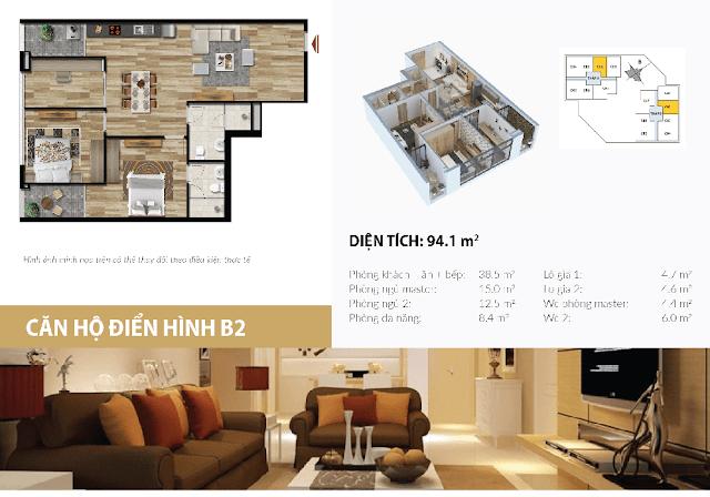 thiết kế căn hộ stellar garden 94m2