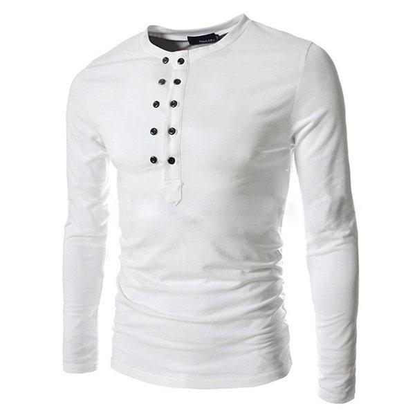 Camisa Masculina Com Botões - Opções Diversas