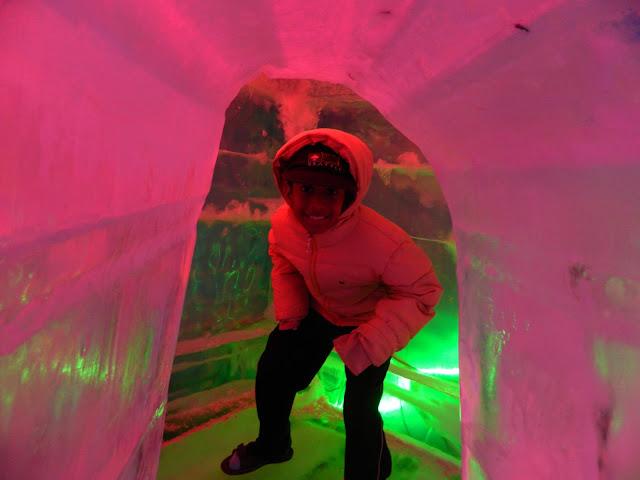 igloo ice sculpture in Seoul