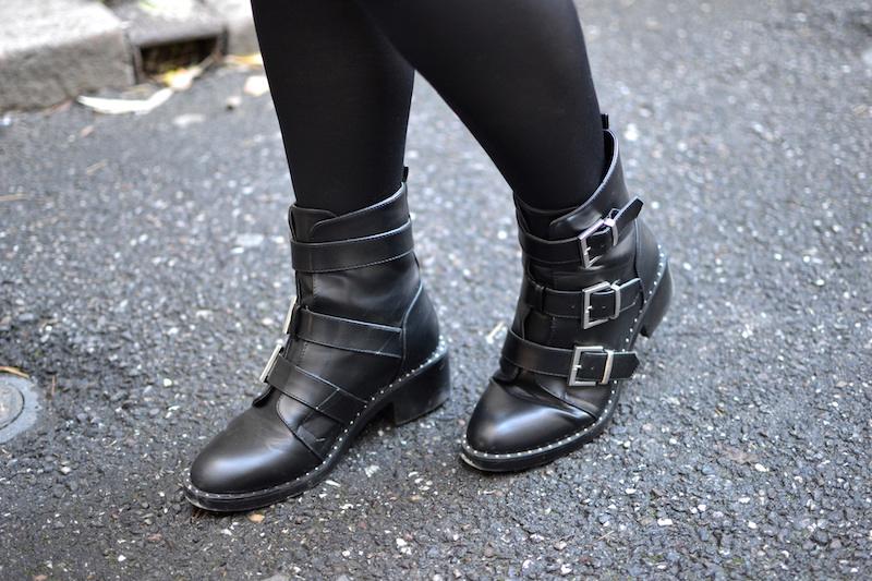 bottines noires à clou Pimkie