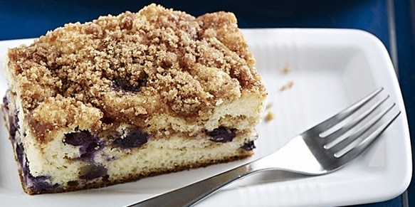 Recipe Cake with Blueberries and Cinnamon