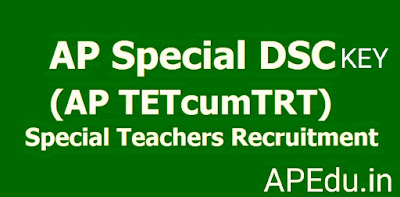 A.P Special DSC Subject wise Key