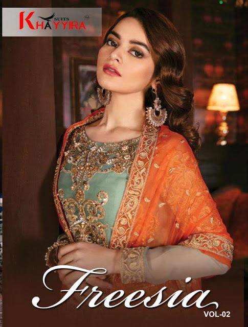 Khayyira Freesia Vol 2 Georgette Wedding Pakistani Suits Collection