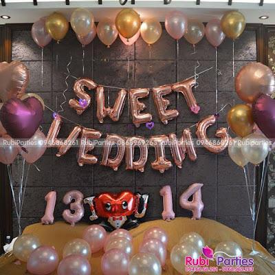 Set bong trang tri phong cưới SBC337