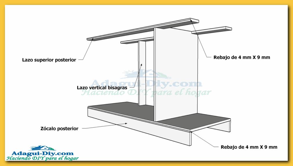 Como hacer muebles de cocina web del bricolaje dise o diy for Plano alacena melamina