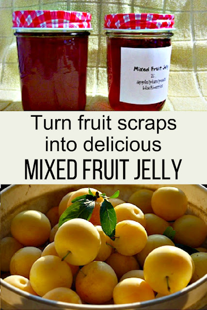 How to make mixed fruit jelly from bits of fruit that you've saved all season long. Each batch of jelly will taste different.