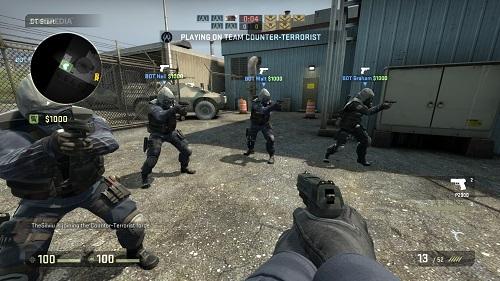Counter Strike là một trong những tượng đài của dòng trò chơi đột kích ánh mắt người trước tiên