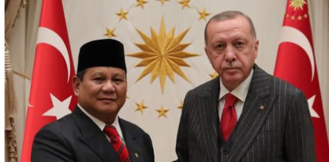 Presiden Turki Erdogan Menerima Kunjungan Menhan Prabowo