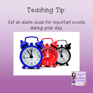 Teaching Tip: Set an Alarm
