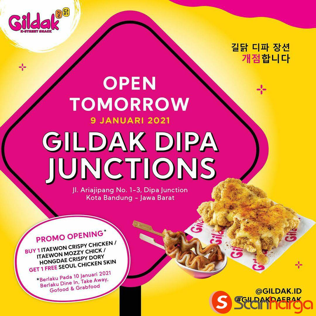 GILDAK Dipa Junctions Opening Promo – Beli 1 Gratis 1