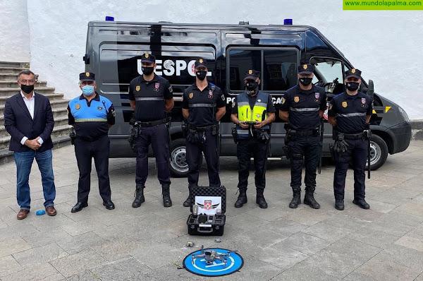 La Unidad Especial de la Policía Local de Santa Cruz de La Palma incorpora un dron para mejorar la vigilancia