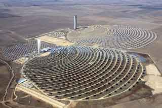 solar tower onsite